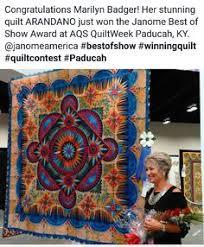 DAISY CHAIN by Laura Welklin. Best miniature quilt award. 2016 AQS ... & Marilyn Badger's quilt ARANDANO won the Janome Best of Show Award at AQS  QuiltWeek Paducah, KY. Adamdwight.com