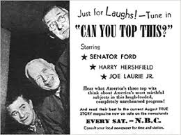 CAN YOU TOP THIS? - OLD TIME RADIO - 1 mp3 CD - 34 episodes - Total  Playtime: 13:36:08: Edward Ford, Edward Ford, : Amazon.com: Books