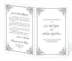 Wedding Programs Template Free Program Templates Word Wedding Program Template Free Word