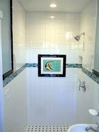 white bathroom tiled walls