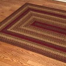 primitive braided rugs area unique country on style jute cinnamon