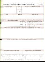 Form For Accident Incident Report Accident Incident Disease And Near Miss Reporting University