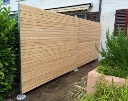 Lamellen Sichtschutz Holz Garten Elegant Klassisch Blickdicht
