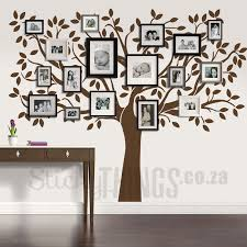 family tree wall art decal with space for your family photographs on wall art tree images with family tree wall art decal stickythings za