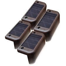 deck accent lighting. MAXSA Solar Step \u0026 Deck Railing Lights (4-Pack), Dusk To Dawn Accent Lighting
