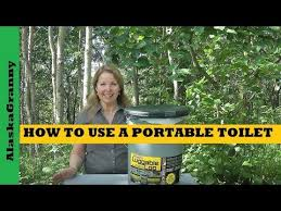 how to use portable toilet emergency