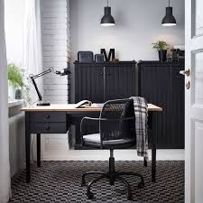 office partitions ikea. home office design with arkelstorp desk and sideboard in black wood gregor swivel partitions ikea