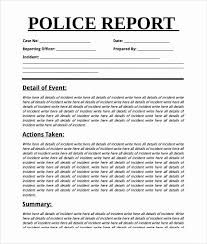 Sample Police Report Template Fresh Accident Report Forms Template