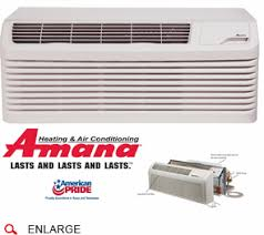 amana pth123g35axxx ptac unit heat pump cool running amana pth123g35axxx ptac air conditioner heat pump 12 000 btu 230 208 volt