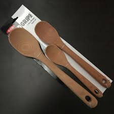 details about 3 pc wooden spoon set by oxo good grips solid beech wood new