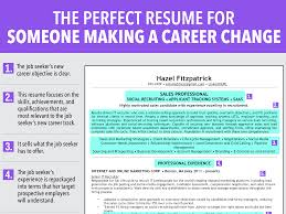 how to write a career change resumes ideal resume for someone making a career change business insider