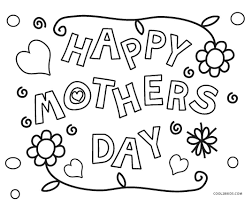 Valentine s day coloring pages free printable coloring. Free Printable Mothers Day Coloring Pages For Kids