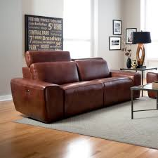 Beaumont Genuine Leather Sofa Recliner