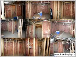 preparation for drywall installation before