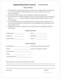 Perfect Employee Referral Form
