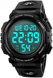 <b>Men</b> 's Large Face Digital <b>Outdoor Sports</b> Waterproof <b>Watch</b> LED ...