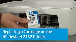 replacing a cartridge on the hp deskjet 2132 printer you