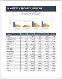 Quarterly Status Report Template Quarterly Progress Report Template For Excel Word Excel