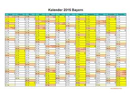 Kalender 2015 Excel Kalender 2015 Bayern Kalendervip