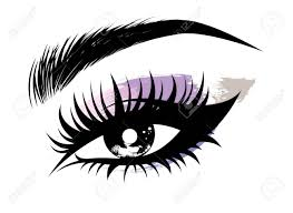 ilration vector of beautiful eye makeup and brow on white background stock vector 83364108