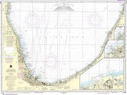 International Nautical Charts Noaa Nautical Chart 14905 Waukegan To South Haven Michigan City Burns International Harbor New Buffalo