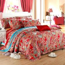 purple paisley king bedding comforter set 4 extraordinary red sheets queen sets party bohemian style fashion
