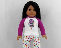Dream Catcher Dolls Flannel doll pajamas Etsy 42