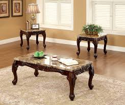 Amazon.com: Furniture of America Beltran 3-Piece Traditional Faux Marble  Top Accent Tables Set, Dark Oak: Kitchen & Dining