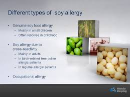 Soy Allergy Important protein source Sensitization frequency varies ...