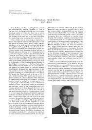 In Memoriam: Derek Richter 1907–1995 - [PDF Document]
