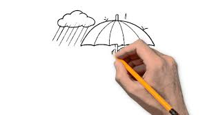 rain nature pencil to draw step by step
