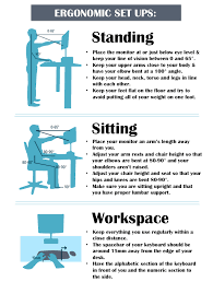 adorable ergonomic standing desk setup sitting or standing at work which is better for you