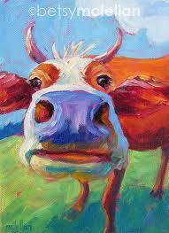 cow cow art cow print paper canvas wood block