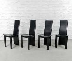 highback dining chairs. black sadle leather high back dining chairs, 1970s highback chairs