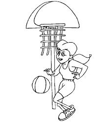 Sport Kleurplaat Basketbal