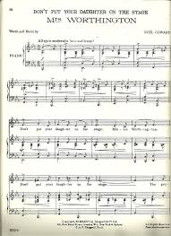 how much is old sheet music worth tredwellsmusic com mrs worthington dont put your daughter on the