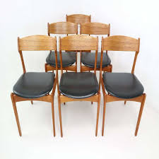 set 6 danish teak dining chairs by erik buch for o d 1960s ideas with leather dining