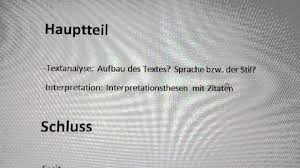 Aufbau Einer Interpretation Anleitung Interpretation Schreiben