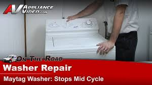 maytag washer diagnostic repair stops mid cycle not agitating or spinning lat9240aae