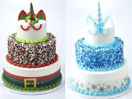 Sams Club Is Selling 3 Tier Holiday Cakes That Look Like Unicorns