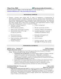 Chemical Resume Objectives Canadianlevitra Com