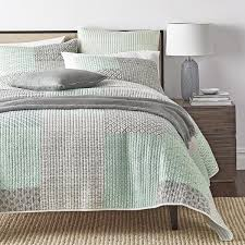 DaDa Bedding Collection & DaDa Bedding Contemporary Mint Green Grey Geometric Quilted Coverlet  Bedspread Set (JHW-804) Adamdwight.com