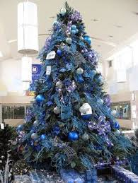 blue white silver christmas decorations - Google Search