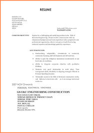 Technical Objective For Resume 24 Career Objective For Electrical Engineer Receipts Template 19