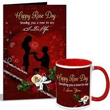 sending you a rose to say i love u rose day mug her