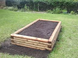 Small Picture Raised Garden Bed Plans Using Landscape Timbers Garden Planning