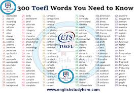 Chronology Words 300 Toefl Words You Need To Know English Study Here