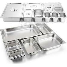 Details About Case Of Any Size Wholesale Stainless Steel Half Full Steam Prep Table Food Pan
