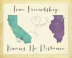 Quotes About Friendship Long Distance True Friendship Knows No Distance Gift Personalized Long Distance 24