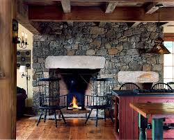 view in gallery stone wall and fireplace for the smart farmhouse kitchen design archer buchanan
